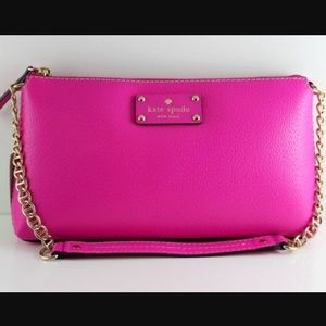 KATE SPADE BYRD WELLESLEY LEATHER SHOULDER BAG