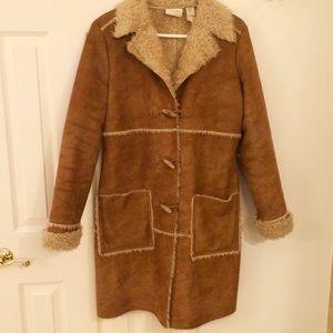 Shearling coat - fully lined.