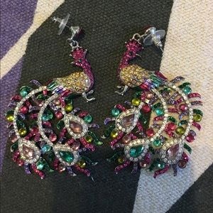 Gorgeous multicolored peacock earrings!