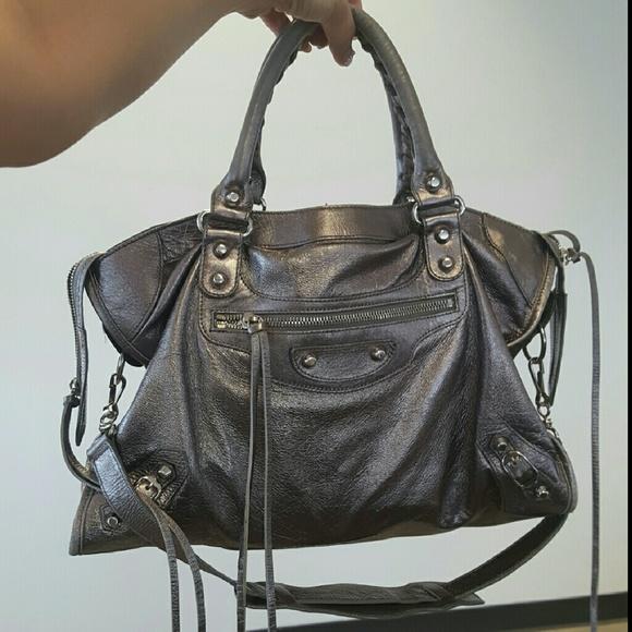 Balenciaga Handbags - SALE! Authentic Balenciaga City in Metallic Pewter 8b90ad0366da6