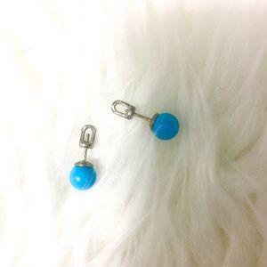 Jewelry - Sterling Silver Genuine Turquoise Stud Earrings