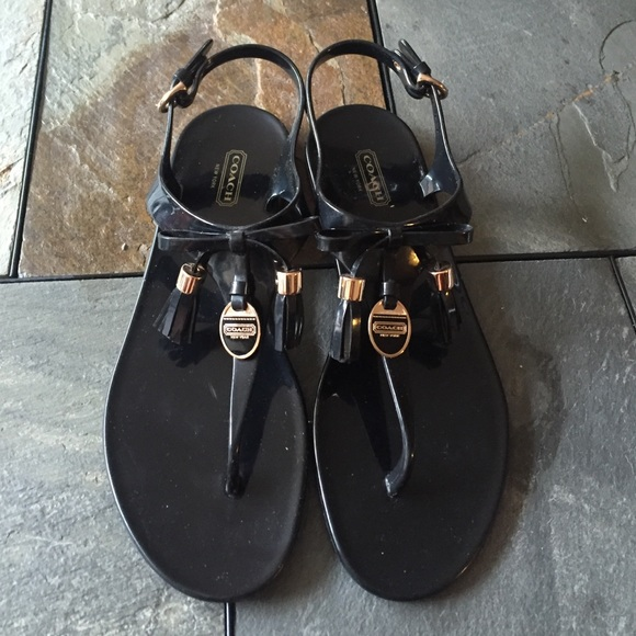 1f9fc1ea33f Coach Shoes - Coach Helma Jelly Sandals size 9