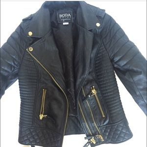 Boda skins Jackets & Blazers - Boda leather jacket boda skins xs 34 uk6