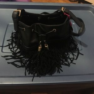 Boohoo crossbody bag with fringes. Never worn