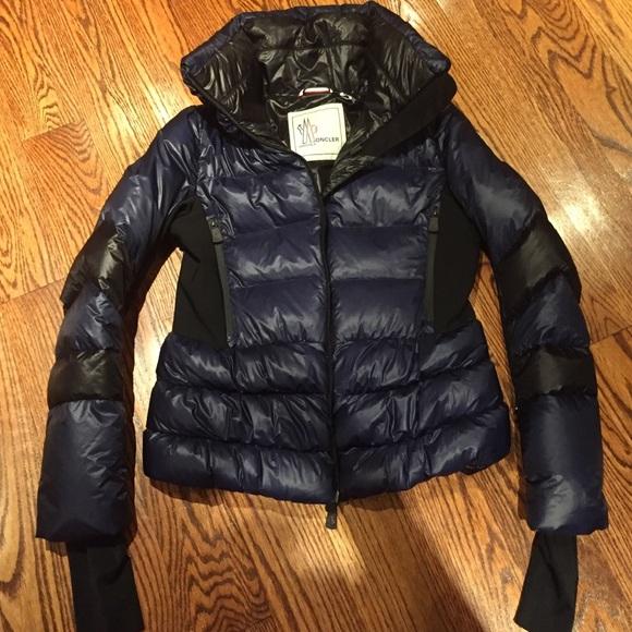 Moncler Navy and Black women's ski jacket