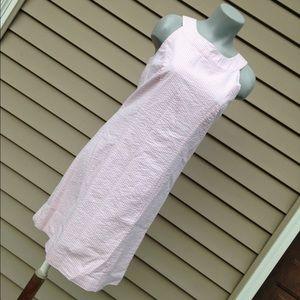 NWT Cynthia Rowley pink & white seersucker dress