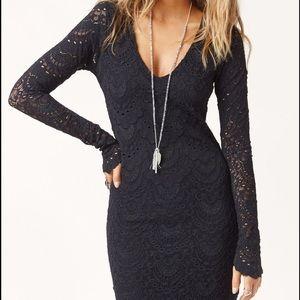 Nightcap Dresses & Skirts - Nightcap Spanish Lace Deep V Dress
