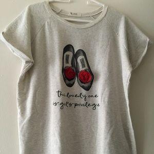 One size Korean fashion tee