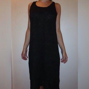 Eileen Fisher Racerback Linen Jersey Stripe Dress