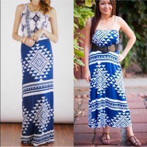 The JACQUELYNN maxi skirt - BLUE
