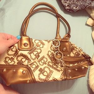 Kathy Van Zeeland Handbags - Kathy Van Zeeland gold crown shoulder bag