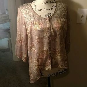Love Squared Tops - Love squared sheer blouse