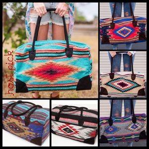 TillieCreekClothing Handbags - Bohemian Southwestern Weekender Bag