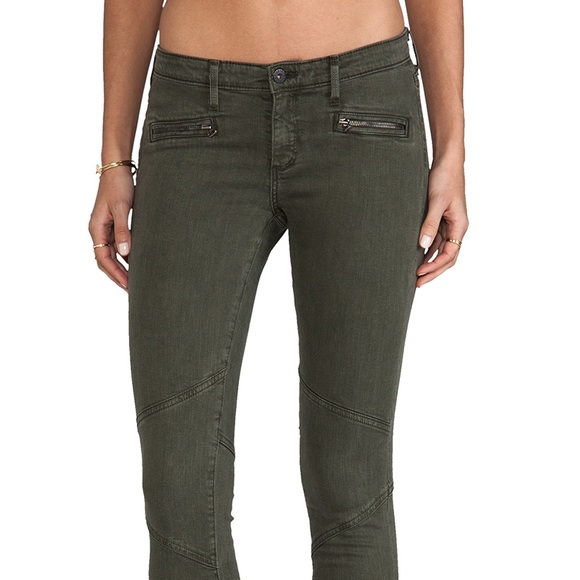 Ag Jeans Woman Mid-rise Skinny Jeans Grey Green Size 27 AG - Adriano Goldschmied zrRJlMR