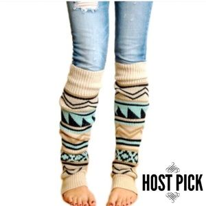 Accessories - Boho Knitted Warm Long Leg Warmers Boot