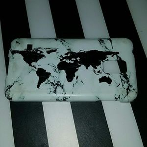 World map marble phone case