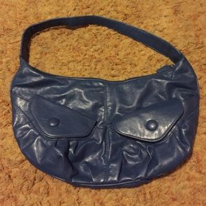 Handbags - Blue purse with pocket detail