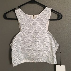 Bishop + Young Geo Print Crop -NWT!