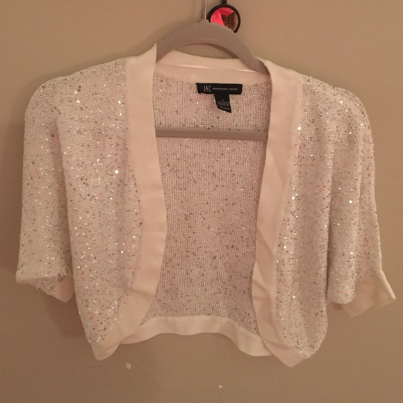 Inc International Concepts Sweaters Inc Dressy Shrug With Sequins