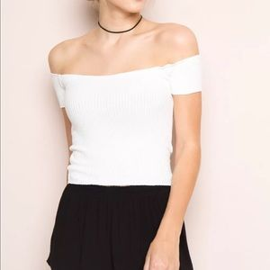 b1d5fcb64b848 Brandy Melville Tops - Brandy Melville white off shoulder Jessie top