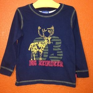Genuine Kids Navy Deer Long Sleeve T Shirt 4T