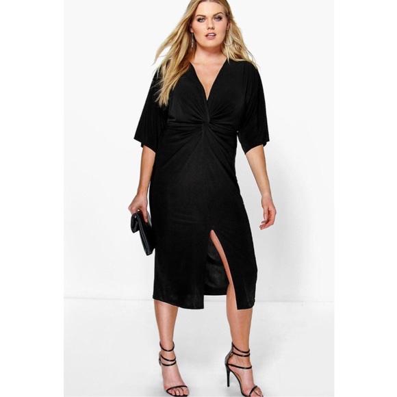 Plus Size Kimono Sleeve Midi Dress Asos NWT