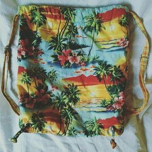 Handbags - 🍍Reversible Hawaiian Drawstring Backpack/Bookbag