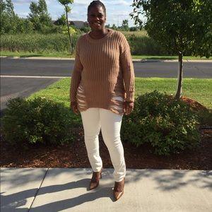 Khaki Fringe Sweater