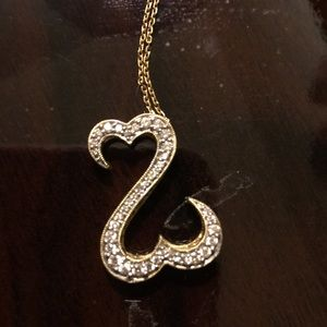 Kay Jewelers Jewelry - 14 YG Open Hearts Diamond Necklace Kay Jewelers
