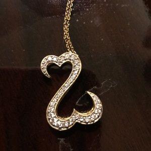 Kay Jewelers Jewelry - 14 YG Open Hearts Diamond Necklace Kay Jewelers