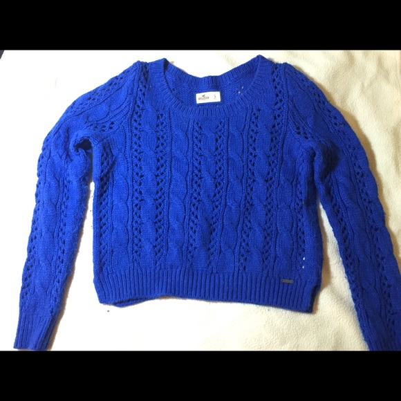 63% off Hollister Sweaters - Hollister royal blue knit sweater ...