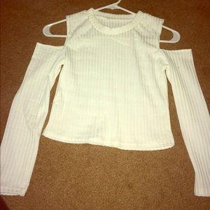 54 Off Sheinside Sweaters Sheinside Cream Lace Trim