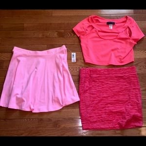 Crop top and 2 skirts BUNDLE!!!