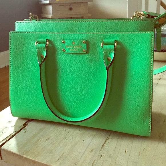 a7607b3102cd82 kate spade Handbags - Kate Spade Kelly Green Wellesley Durham Satchel
