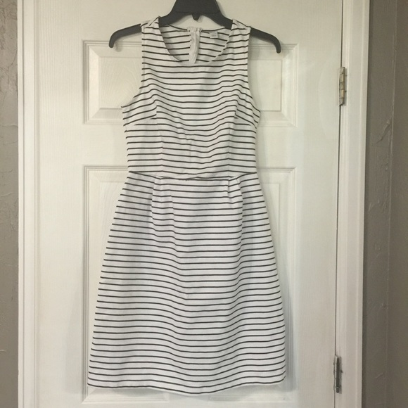 Old Navy Dresses - Black and White Knee length Striped Dress