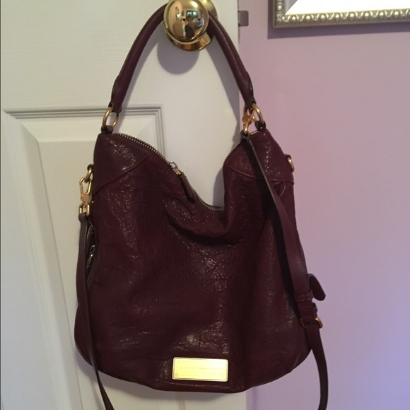 50% off Marc by Marc Jacobs Handbags - Marc Jacobs burgundy hobo ...