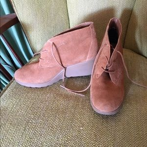 White Mountaineering Shoes - Camel Boot Wedges