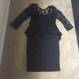 Dresses & Skirts - Black Peplum Dress