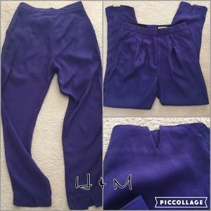H&M pleated, cropped ankle pant 2