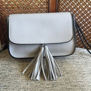 | new | The Daisy Grey Fringe Tassel Crossbody Bag