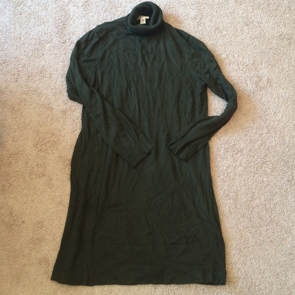 18aac58e85 LOFT Dresses   Skirts - Olive green LOFT turtleneck sweater dress