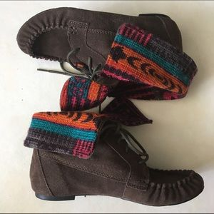 American Rag Shoes - American Rags Tribal Bootie Boots