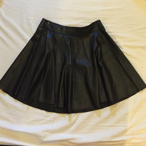 46 forever 21 dresses skirts faux leather flared