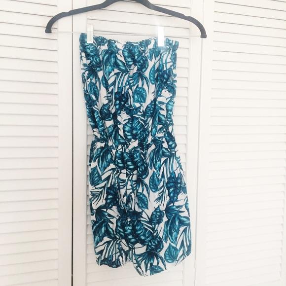 2e814b7cd000 H M Dresses   Skirts - H M strapless romper tropical print