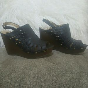 Mossimo Supply Co. Shoes - Brown Wedge Heels