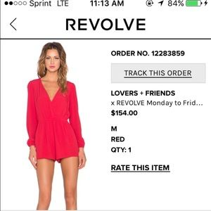 Red Lovers + Friends Romper