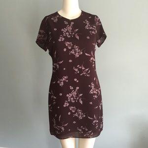 LOFT Dresses & Skirts - LOFT Maroon Floral Dress