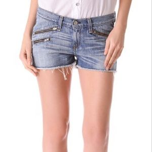 Rag and bone shorts with zips