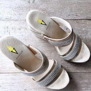 1d8967ac05 Volatile Shoes - Volatile Rhinestone Wedge Sandals