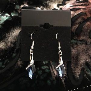 Jewelry - Blue Crystal Teardrop Earrings
